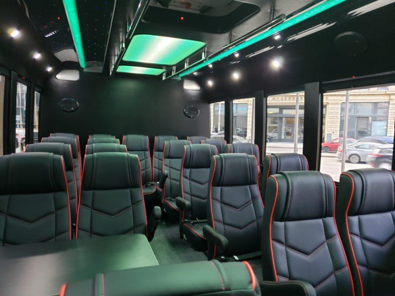 Charter Services Executive Bus Apex Edmonton bus interior 23